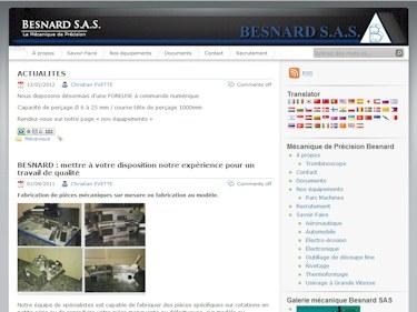 Besnard SAS : la mécanique de précision