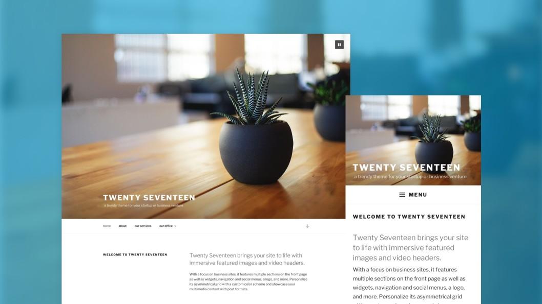 Wordpress 4.7 thème Twenty Seventeen
